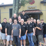 The group at Four Roses!