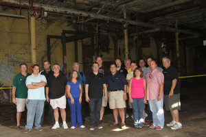 Some of the group and friends at the new AE site!
